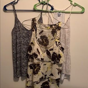 3 for $10 Old Navy Floral Tanks